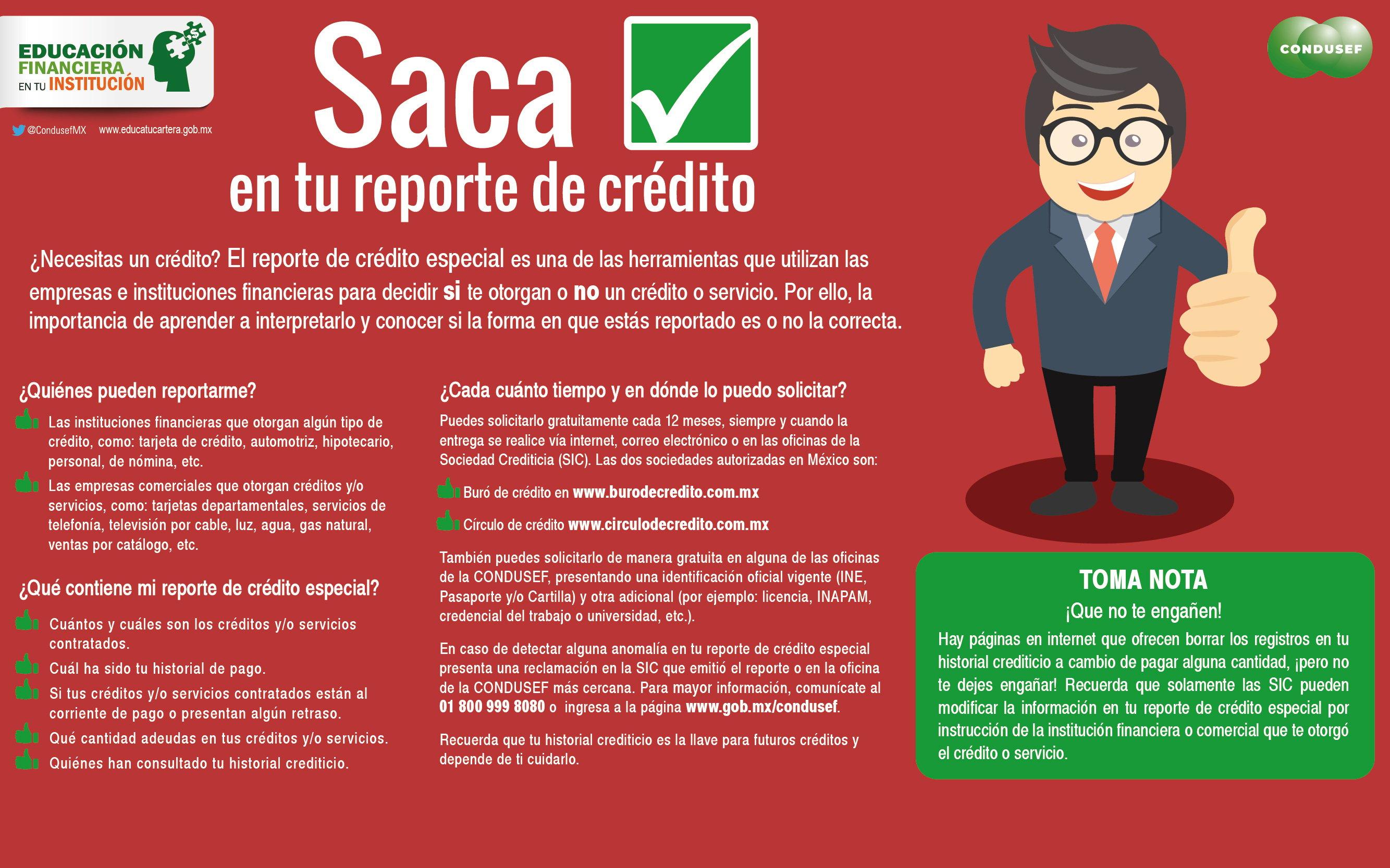 Saca ok en tu reporte de crédito