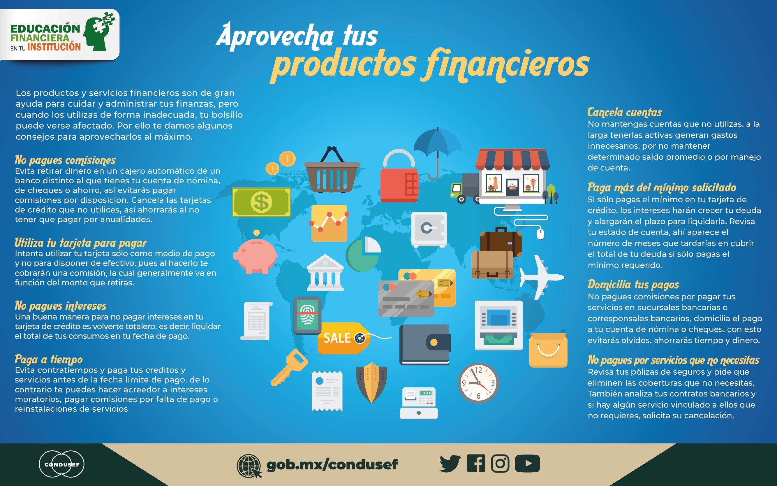 Aprovecha  tus productos financieros