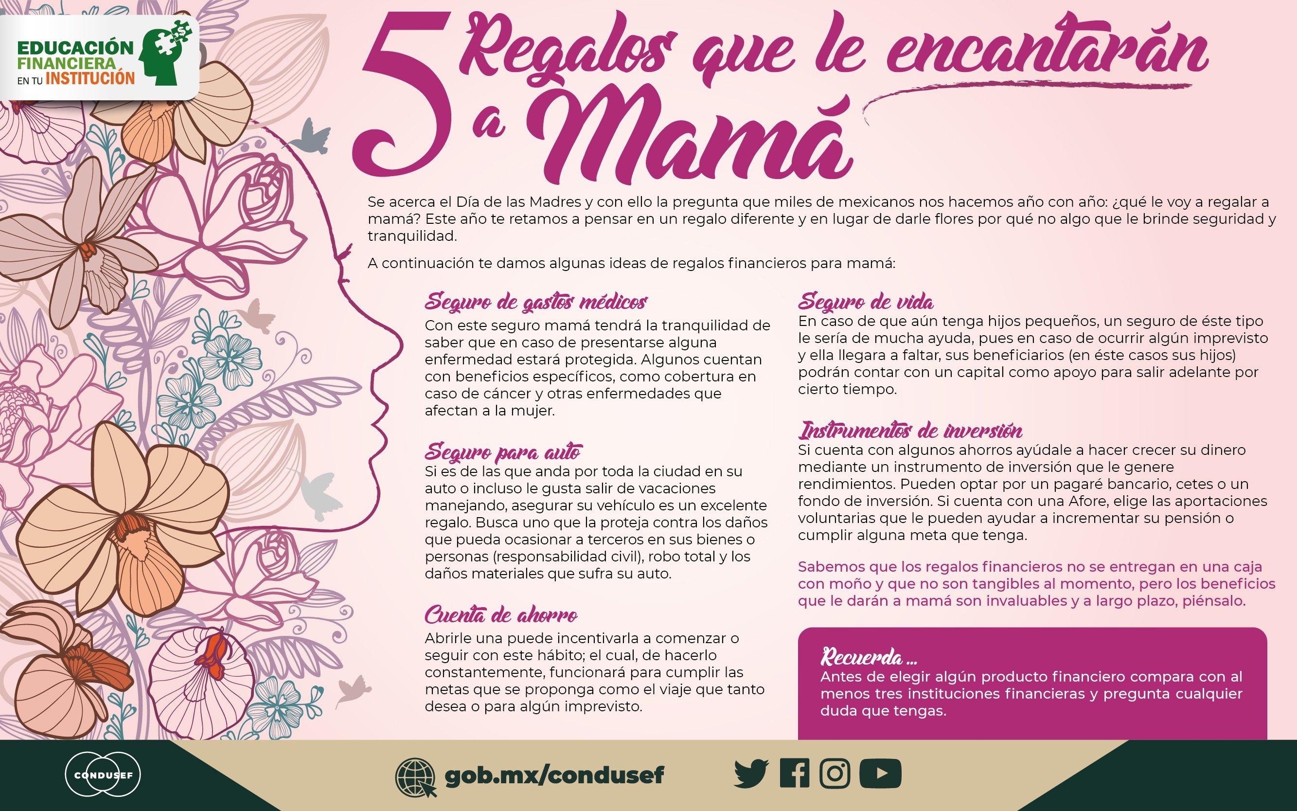 5 Regalos que le encantarán a mamá
