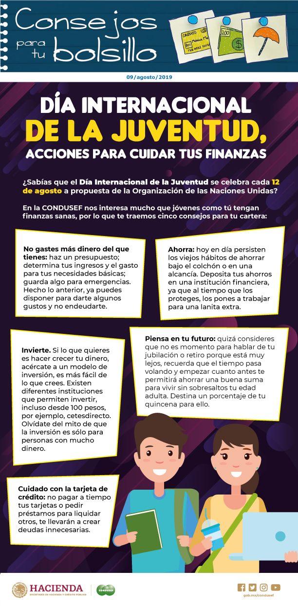 Día Internacional de la Juventud, acciones para cuidar tus finanzas.