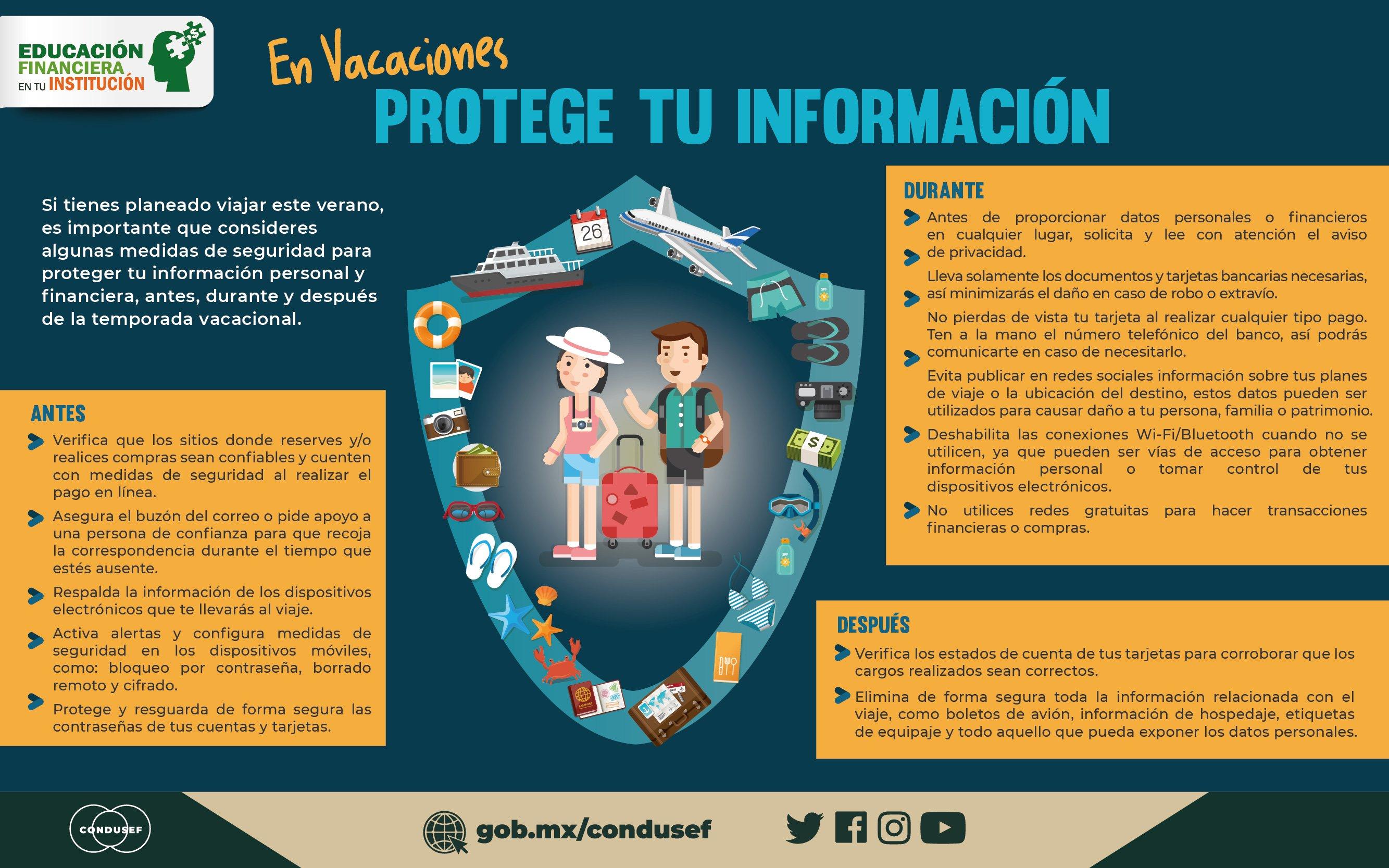 En vacaciones protege tu información