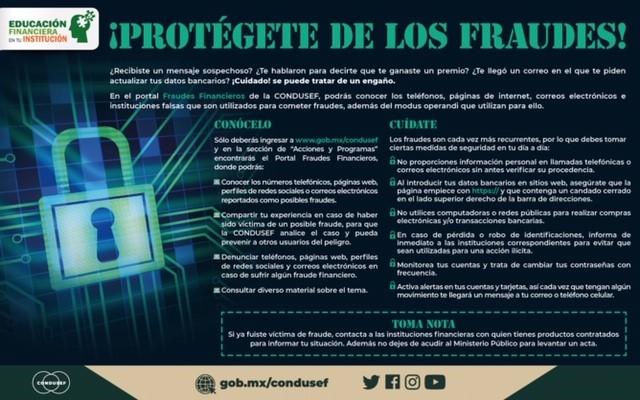 Protégete de los fraudes