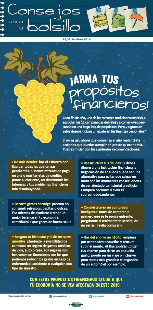 ¡Arma tus propósitos financieros!