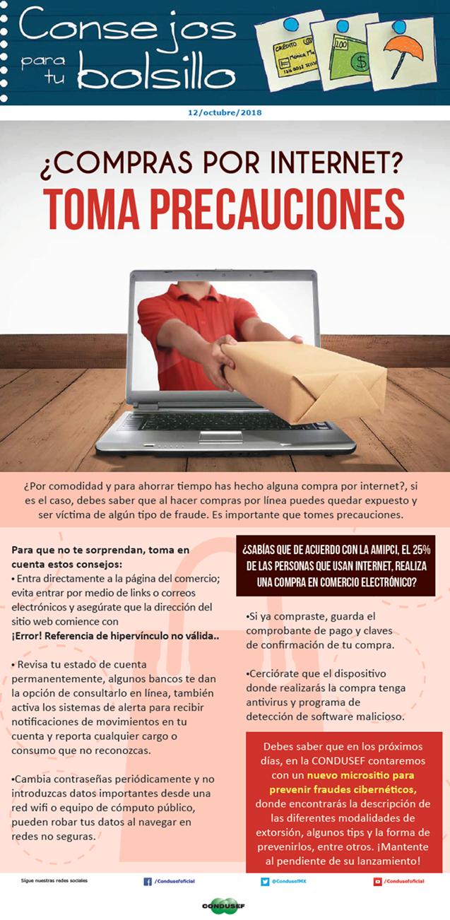 ¿Compras por internet? Toma precauciones