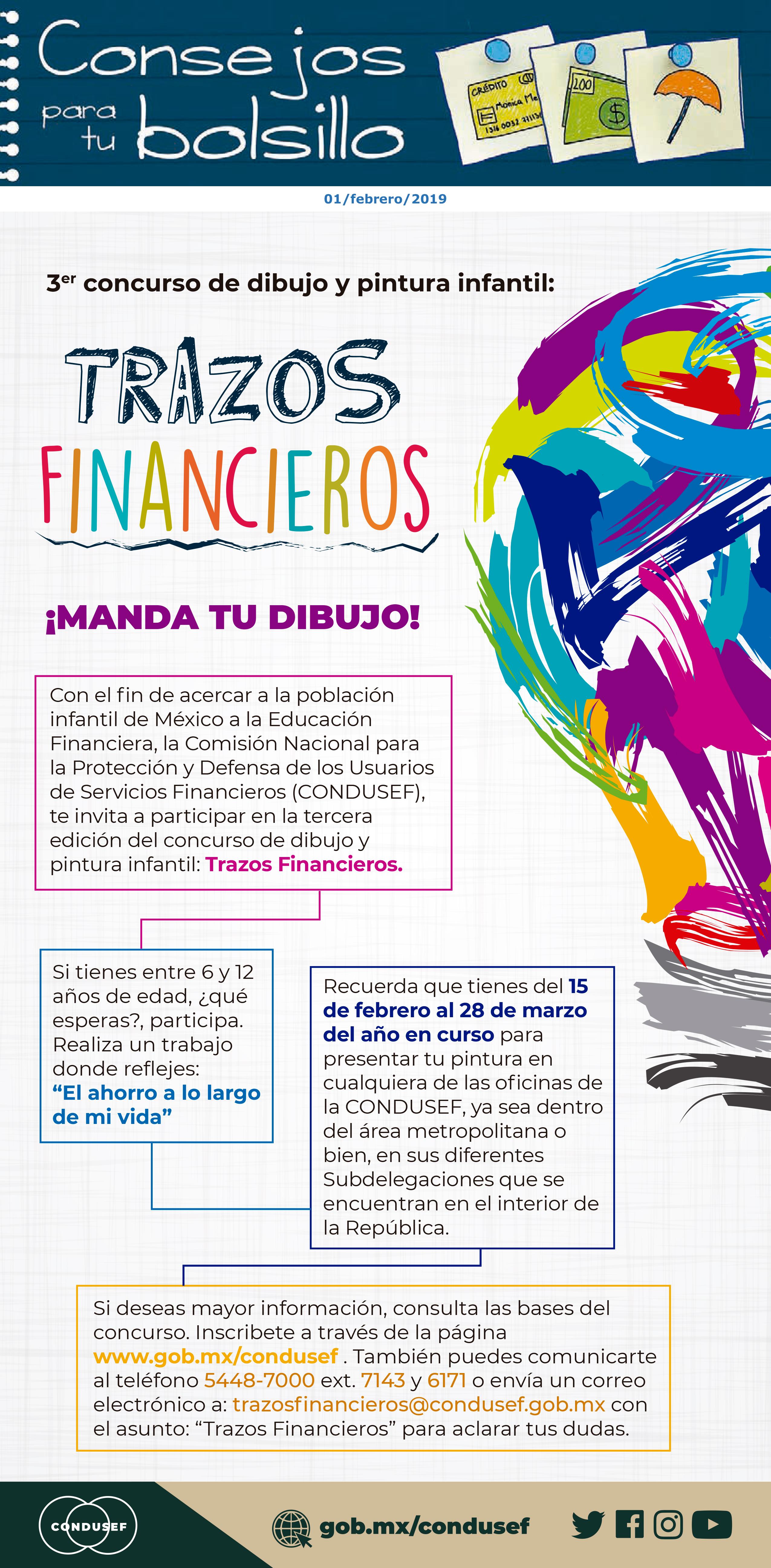 Tercer Concurso de Dibujo y Pintura Infantil: Trazos Financieros