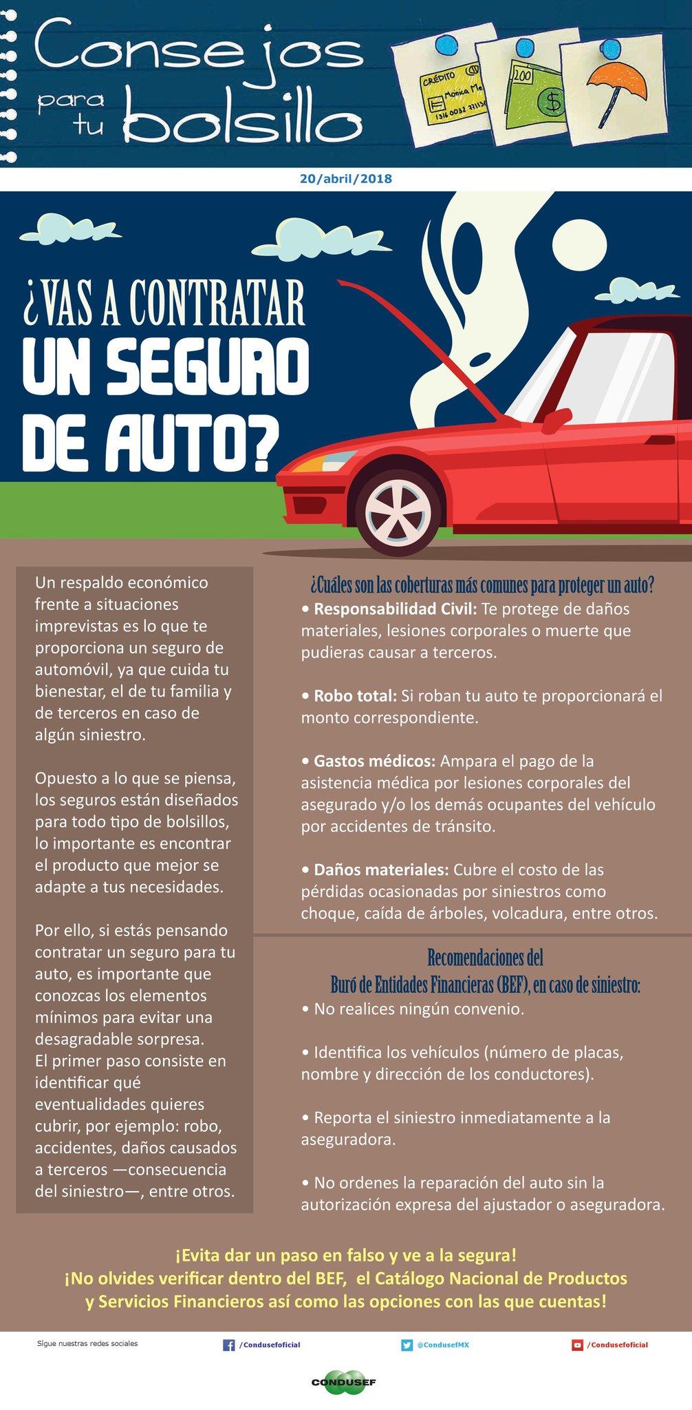 ¿Vas a contratar un seguro de auto?