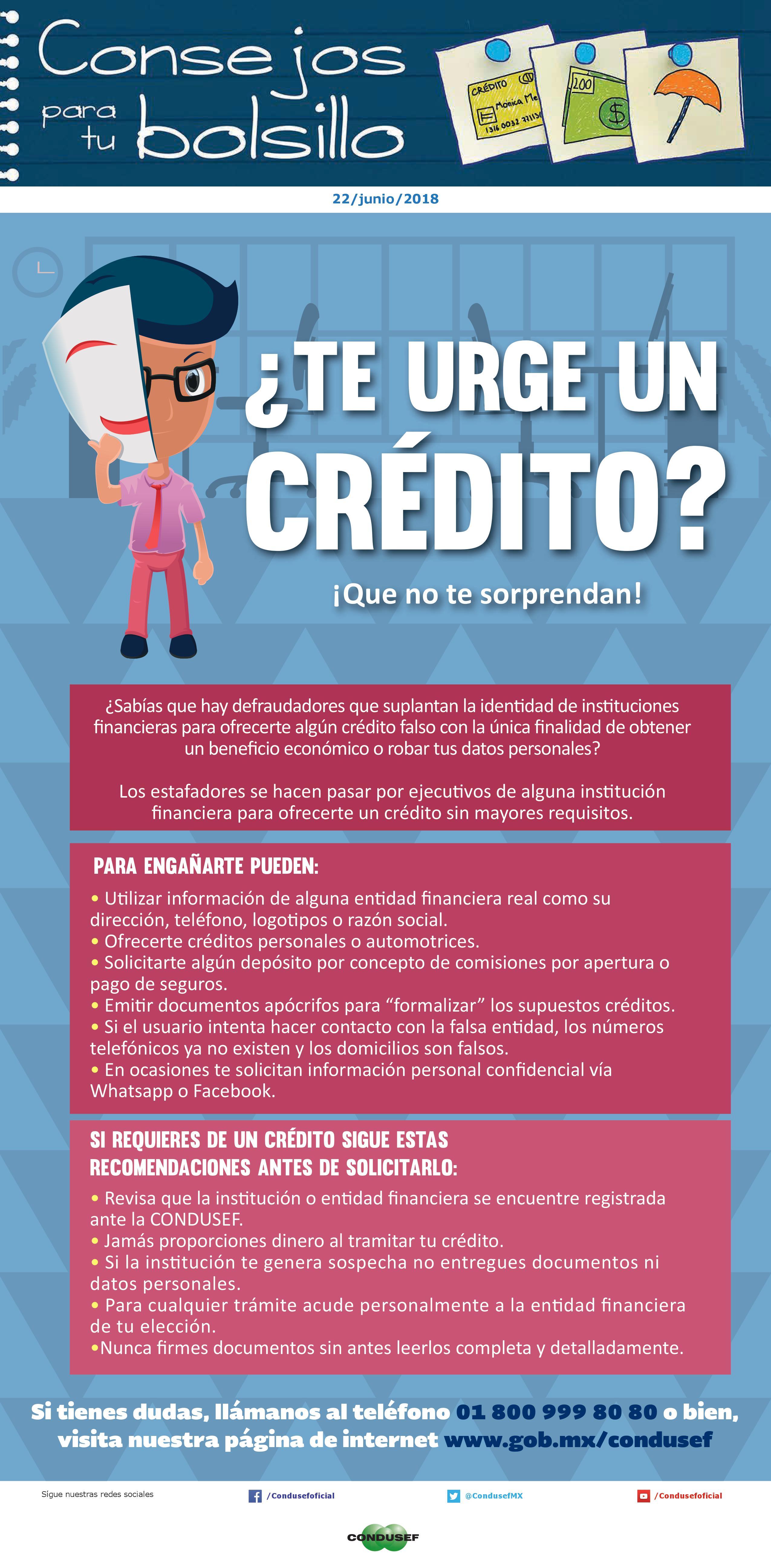 ¿Te urge un crédito?