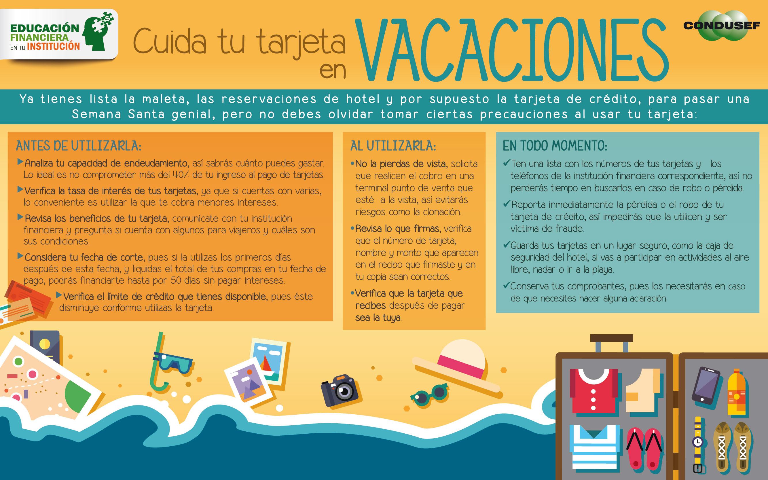 Cuida tu tarjeta en vacaciones