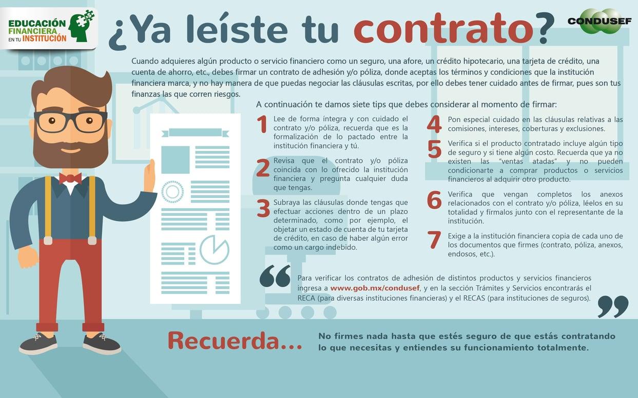 ¿Ya leíste tu contrato?