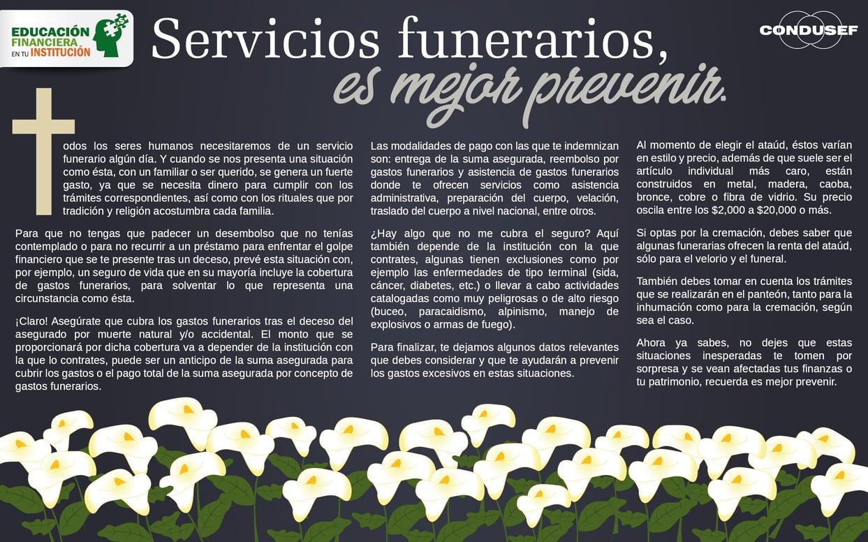 Servicios funerarios, es mejor prevenir
