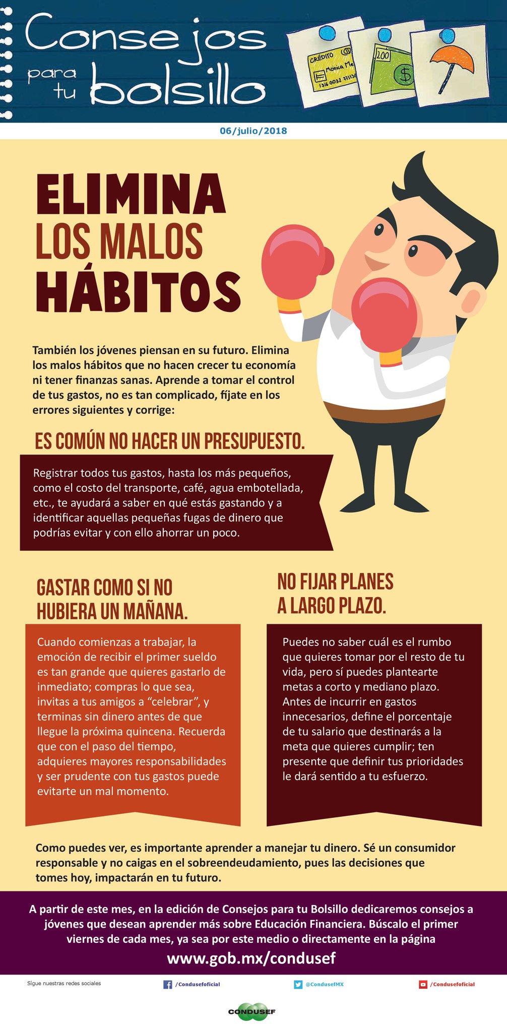Elimina los malos hábitos