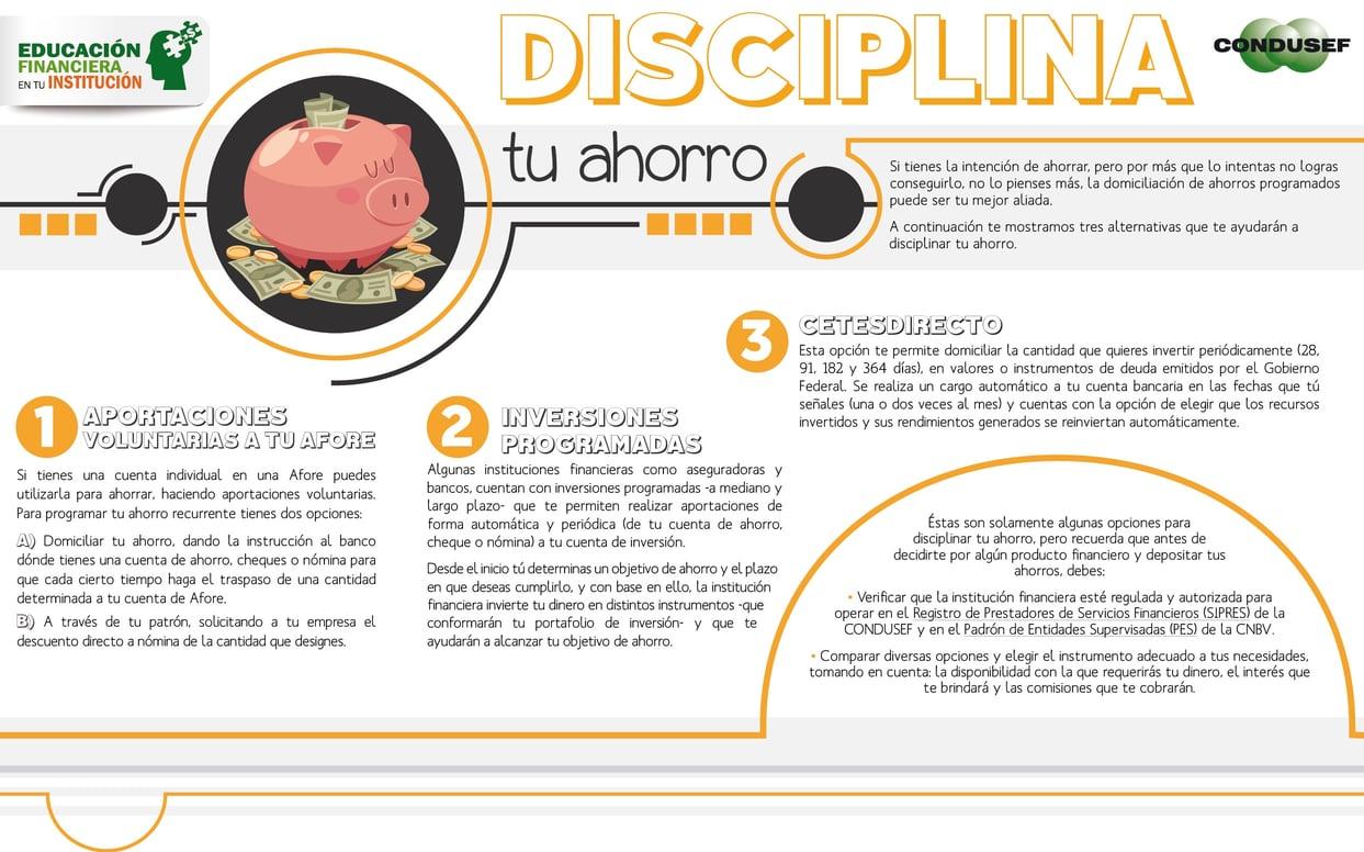 Disciplina tu ahorro