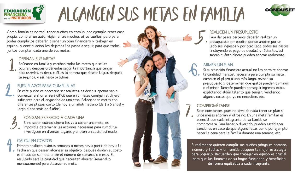 Alcancen sus metas en familia
