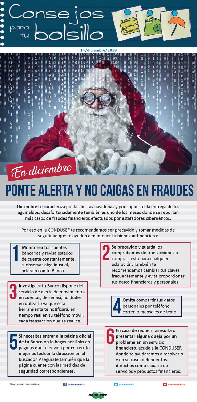 En diciembre ponte alerta y no caigas en fraudes
