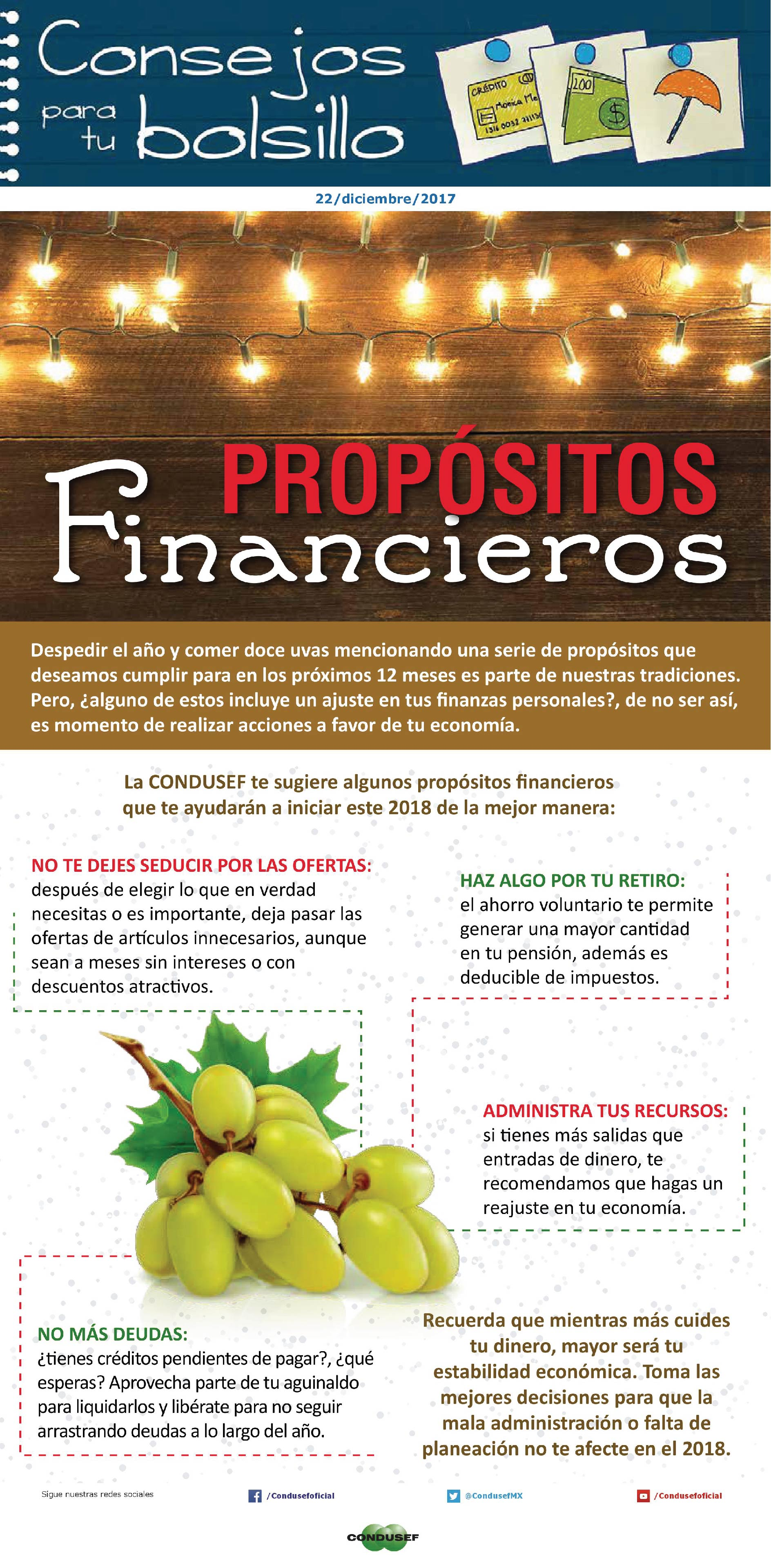 Propósitos financieros