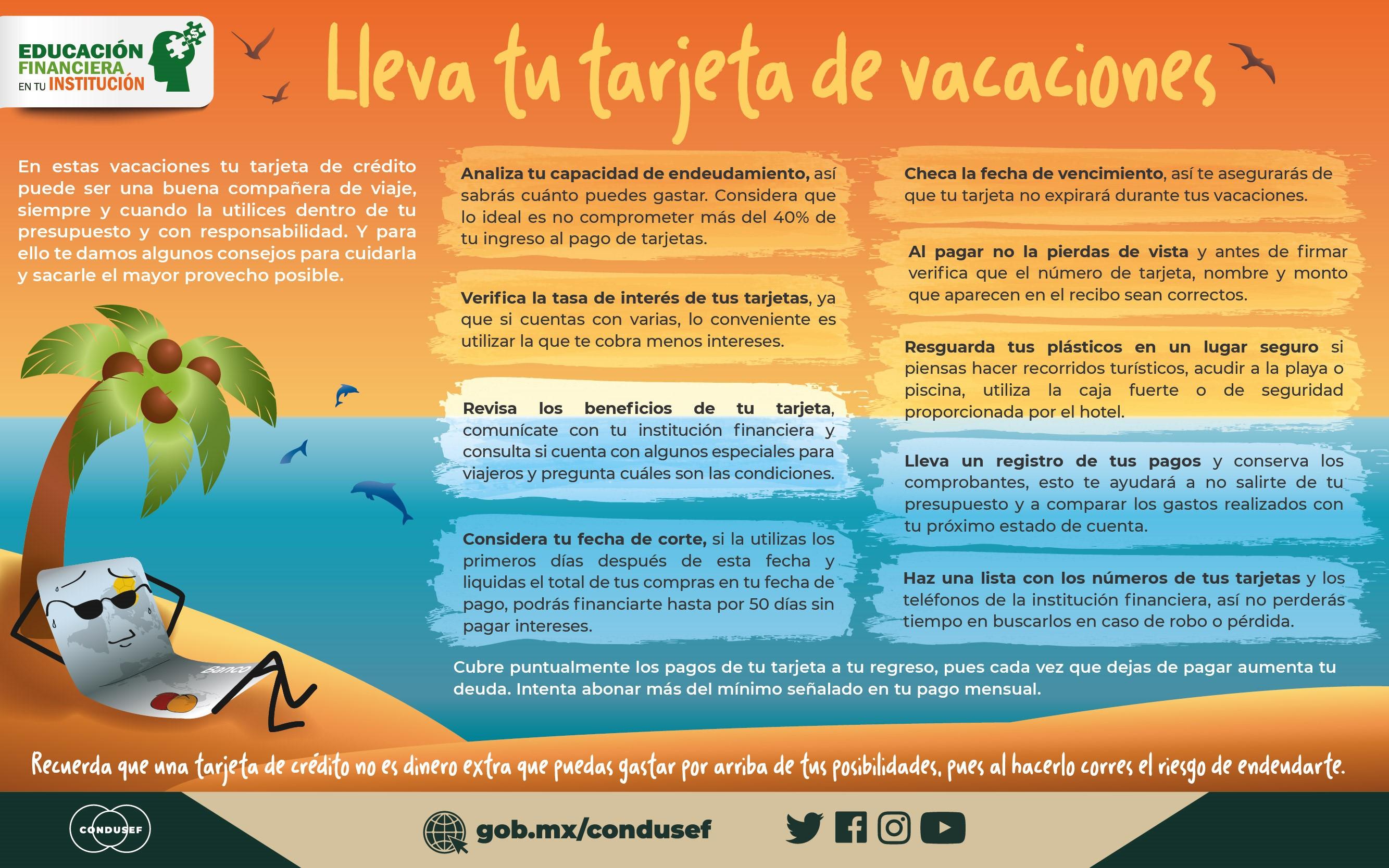 Lleva tu tarjeta de vacaciones