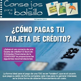 ¿Cómo pagas tu tarjeta de crédito?