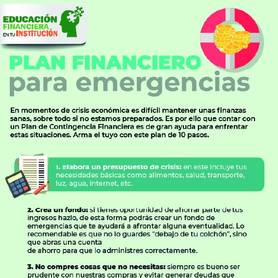 Plan financiero para emergencias.