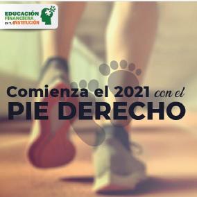 Comienza el 2021 con el pie derecho