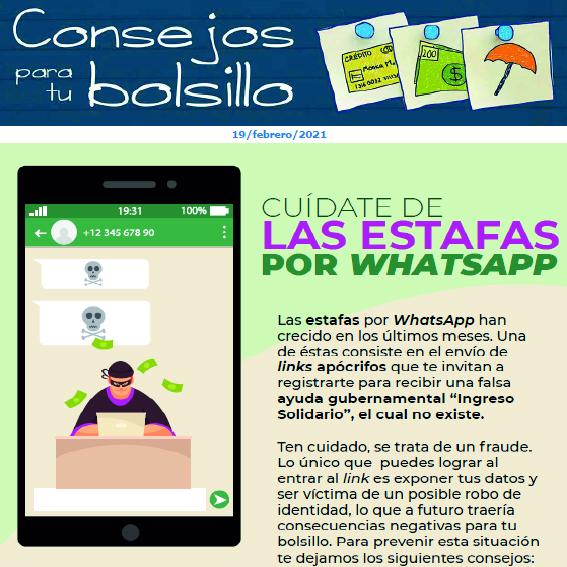 Cuídate de las estafas por WhatsApp