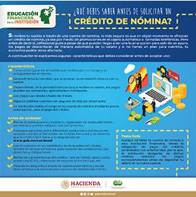 ¿Qué debes saber antes de solicitar un crédito de nómina?