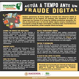 Actúa a tiempo ante un fraude digital