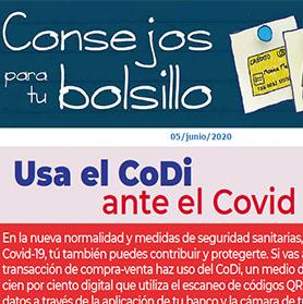 Usa el CoDi ante el Covid